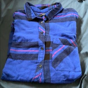 BDG flannel - blue/black/red